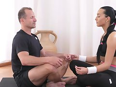 Gloominess tries Yoga but she prefers sex