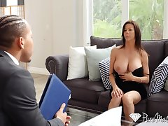 Hot student's mommy Alexis Fawx spreads legs everywhere open and teases with mouth-watering pussy upskirt