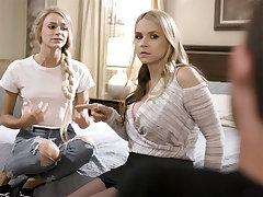 Sadistic boyfriend gets teen Emma Hix to seduce her stepmom