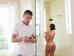 Loved MILF with thick ass, crazy home porn with the stepson